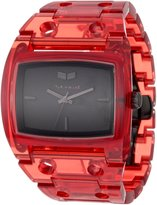 Vestal Women's DESP026 Destroyer Plastic Translucent Red Watch