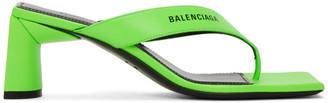 Balenciaga Green Double Square Sandals