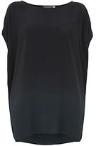 Mint Velvet Cocoon T-Shirt, Black Ombre