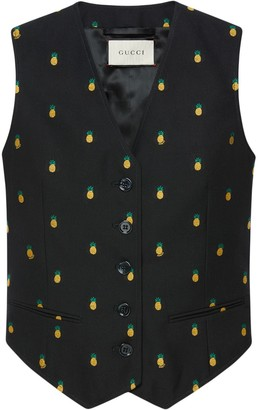 Gucci Pineapple fil coupé wool vest