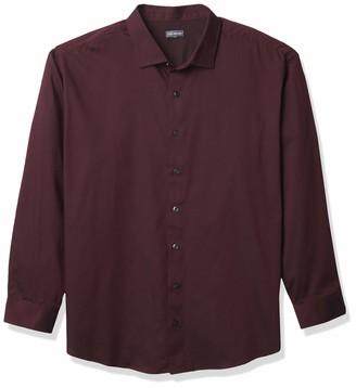 Van Heusen Men's Big & Tall Tall Sateen Stripe Long Sleeve Stretch Button Down Shirt