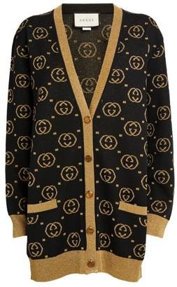 Gucci Lurex Interlocking G Cardigan