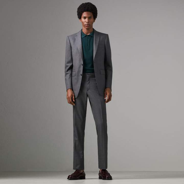 Burberry Classic Fit Sharkskin Wool Suit
