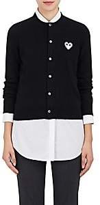 Comme des Garcons Women's Stockinette-Stitched Wool Cardigan - Black