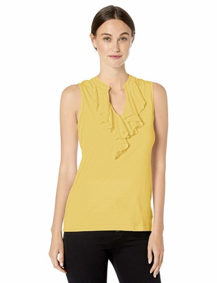 Chaps Women's Ruffled Cotton Sleeveless Top