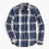 J.Crew Perfect shirt in navy plaid