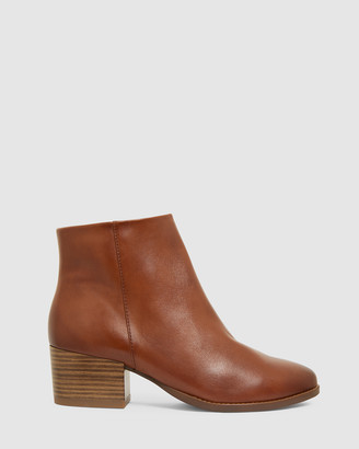 Sandler - Women's Brown Heeled Ankle Boots - Vera - Size One Size, 7 at The Iconic