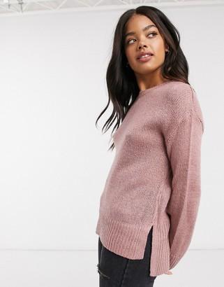 New Look crew neck sweater in pink