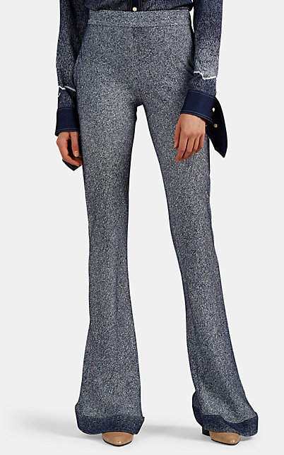 Chloé Women's Dégradé Denim-Print Crepe Pants - Blue