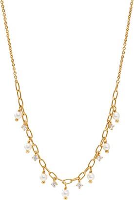 AJOA Shaky Cubic Zirconia & Imitation Pearl Necklace