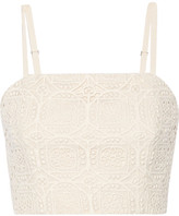 Alice + Olivia Brentley Crocheted Cotton Top - White