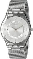 Swatch Women's SFM118M Quartz Stainless Steel Silver Dial Casual Watch