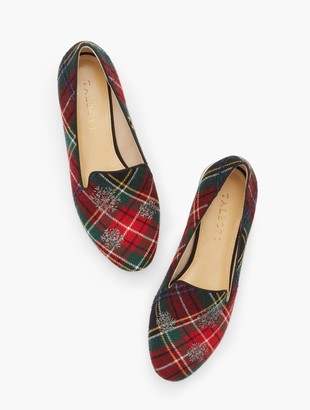 Talbots Ryan Embroidered Snowflake Loafers - Tartan Plaid