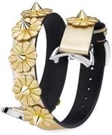 Fendi Selleria White Mother-Of-Pearl Leather Strap Watch