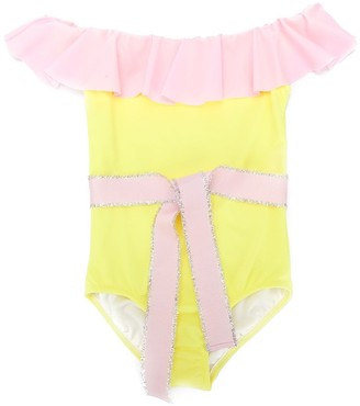 Nessi Byrd Kids Colour-Block Swimsuit
