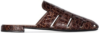 Church's Becky crocodile-effect mules