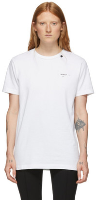 Off-White White Abstract Arrows Slim T- Shirt