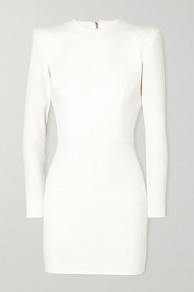 Alex Perry Kira Stretch-cady Mini Dress - White