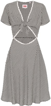 Solid & Striped Gingham-Check Cutout Dress