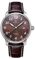 Zeppelin Automatic Large Date Watch Brown Dial And Strap