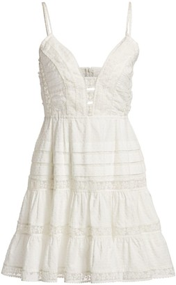 Zimmermann Honour Scallop Lace Short Dress