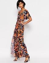 Vero Moda Printed Wrap Maxi Dress