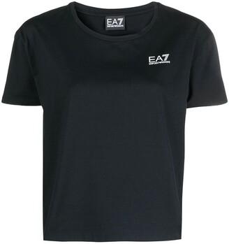 EA7 Emporio Armani logo-print cotton T-Shirt