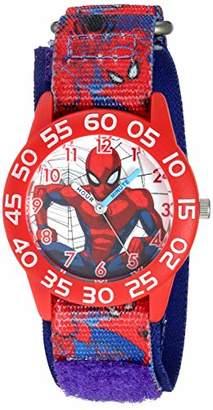 Marvel Boys' Spider-Man Analog Quartz Watch with Nylon Strap