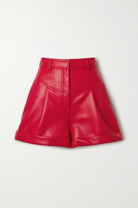 Philosophy di Lorenzo Serafini Faux Leather Shorts - Red