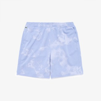 Lacoste Men's LIVE Tie-Dye Print Cotton Fleece Bermudas