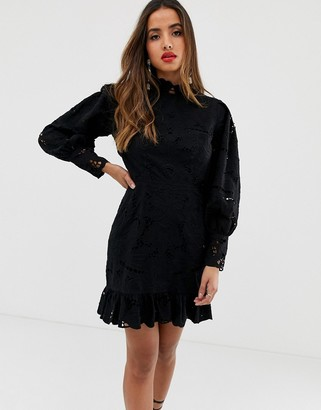 Asos Edition EDITION cutwork mini dress with open back