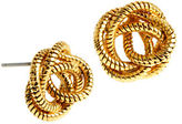 Diane von Furstenberg Knotted Snake Chain Stud Earrings