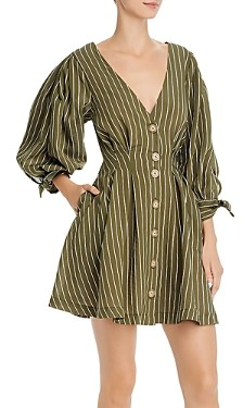 Significant Other Lantana Tonal Stripe Button-Front Mini Dress