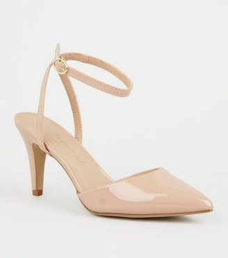 New Look Wide Fit Patent Pointed Court Shoes