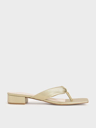 Charles & Keith Puffy Strap Thong Sandals