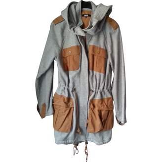 Asos Grey Cotton Trench Coat for Women