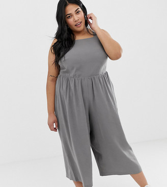 Asos DESIGN Curve minimal jumpsuit with ruched waist