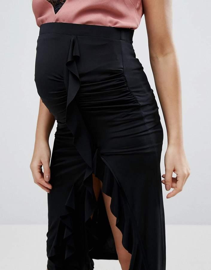 Asos Over The Bump Slinky Jersey Midi Skirt