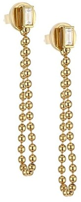 Maria Canale Flapper 18K Yellow Gold & Diamond Soft Hoop Earrings