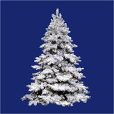 Asstd National Brand 12' Pre-Lit Flocked Alaskan Artificial Christmas Tree - Clear Dura Lights