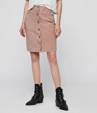 AllSaints Jiro Suede Skirt