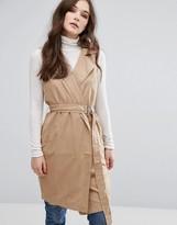 Vila Belted Sleeveless Jacket