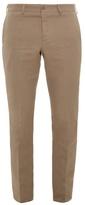 Bottega Veneta Slim-leg Cotton And Linen-blend Trousers