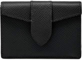 Smythson Mini Leather Panama Trifold Wallet