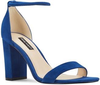 Nine West Ola Women's Suede Block Heel Sandals