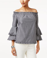 ECI Ruffled Off-The-Shoulder Top