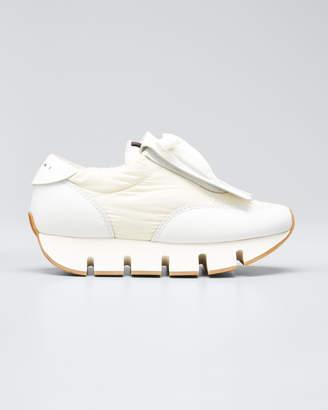 Marni Big Cut Fringed-Leather Kiltie Sneakers