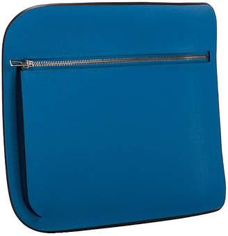 One Kings Lane Vintage Hermes Blue Zanzibar Epsom Clutch - Vintage Lux