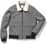 Original Penguin Sherpa Collar Houndstooth Jacket