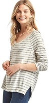 Stripe scoop neck pullover